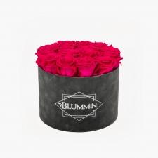 LARGE BLUMMiN - hall velvet karp HOT PINK roosidega