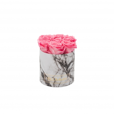 SMALL MARMOR KOLLEKTSIOON - valge karp BABY PINK uinuvate roosidega.jpg