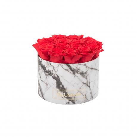 LARGE MARMOR KOLLEKTSIOON - valge karp VIBRANT RED uinuvate roosidega.jpg