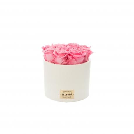Valge keraamiline pott 9 BABY PINK uinuva roosig.jpg