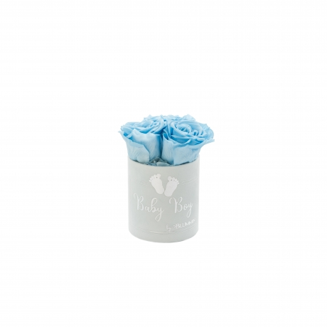 .jpgBABY BOY - helesinine sametkarp BABY BLUE roosidega (3 roosiga)