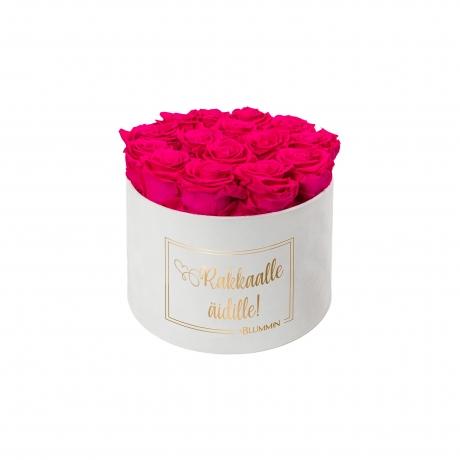 LARGE valge sametkarp HOT PINK roosid.jpg