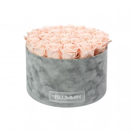 EXTRA LARGE BLUMMiN helehall sametkarp PEACHY PINK uinuvate roosidega.jpg
