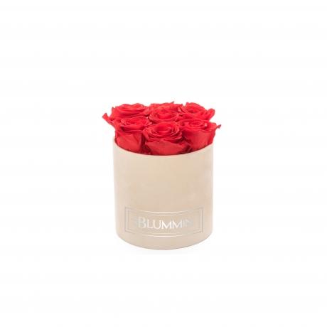 SMALL BLUMMiN - nude sametkarp VIBRANT RED uinuvate roosidega.jpg