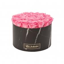 XL MARMOR KOLLEKTSIOON - must karp BABY PINK uinuvate roosidega