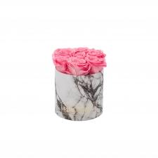 SMALL MARMOR KOLLEKTSIOON - valge karp BABY PINK uinuvate roosidega