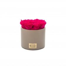 BEEŽ keraamiline pott 9 HOT PINK uinuva roosiga
