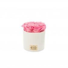 Valge keraamiline pott 7 BABY PINK uinuva roosiga