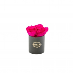 XS BLUMMIN DARK GREY BOX WITH HOT PINK ROSES