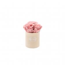 XS BLUMMiN - NUDE sametkarp VINTAGE PINK roosidega