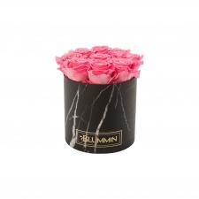 MEDIUM MARMOR KOLLEKTSIOON - must karp BABY PINK uinuvate roosidega