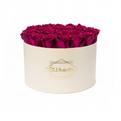 EXTRA LARGE BLUMMIN - CREAM BOX WITH CHERRY ROSES