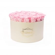 EXTRA LARGE BLUMMiN - kreemikasvalge karp BRIDAL PINK roosidega