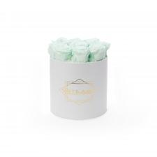 MEDIUM BLUMMiN - valge karp MINT roosidega