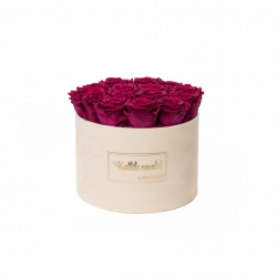 LARGE Kallile emale NUDE VELVET BOX WITH ROSEBERRY ROSES