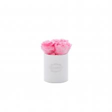 XS BLUMMIN - WHITE VELVET BOX WITH BABY PINK ROSES