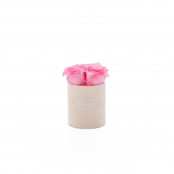 XS BLUMMIN - NUDE VELVET BOX WITH BABY PINK ROSES