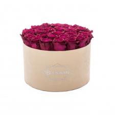 EXTRA LARGE BLUMMiN - nude sametkarp CHERRY roosidega
