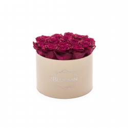 LARGE BLUMMIN NUDE VELVET BOX WITH CHERRY ROSES