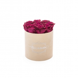 MEDIUM BLUMMiN - NUDE VALVET BOX WITH CHERRY LADY ROSES