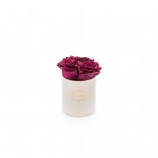 XS BLUMMIN WHITE BOX WITH CHERRY LADY ROSES