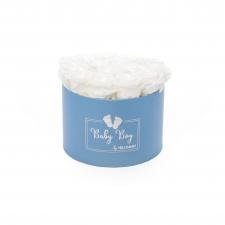 BABY BOY - sinine karp WHITE roosidega (15 roosiga)