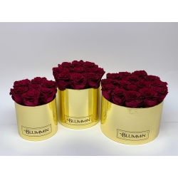 GOLDEN BOX WITH CHERRY ROSES