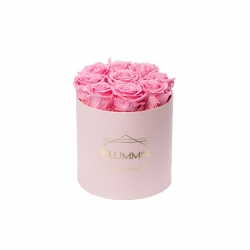 MEDIUM BLUMMIN LIGHT PINK BOX WITH BABY PINK ROSES