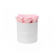 MEDIUM kallile emale WHITE BOX WITH BRIDAL PINK ROSES
