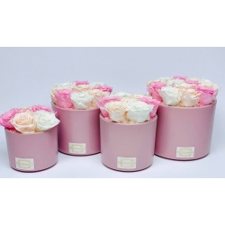 Roosa keraamiline pott MIX uinuvate roosidega