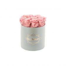 MEDIUM BLUMMiN - helehall karp VINTAGE PINK roosidega