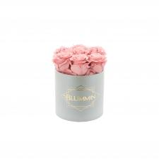 SMALL BLUMMiN - helehall karp VINTAGE PINK roosidega
