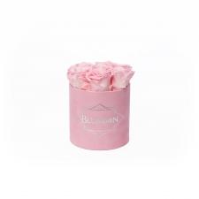SMALL BLUMMiN - roosa sametkarp BRIDAL PINK roosidega
