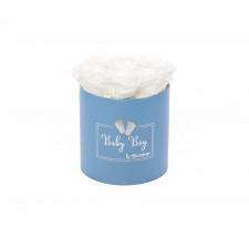 BABY BOY - sinine karp WHITE roosidega (9 roosiga)