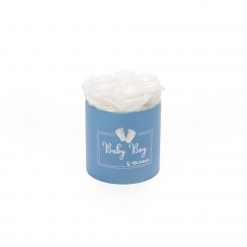 BABY BOY - sinine karp WHITE roosidega (7 roosiga)