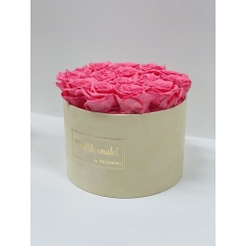 LARGE Kallile emale NUDE VELVET BOX BABY PINK ROSES