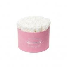 LARGE BLUMMiN - roosa  sametkarp WHITE roosidega