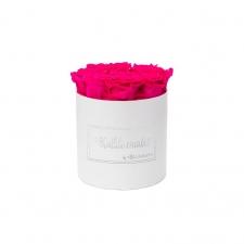 MEDIUM kallile emale WHITE BOX WITH HOT PINK ROSES