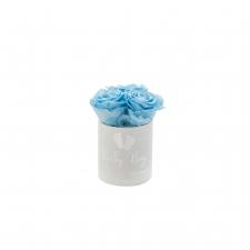 BABY BOY - VALGE sametkarp BABY BLUE roosidega (3 roosiga)