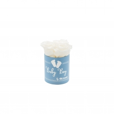 BABY BOY - sinine karp WHITE roosidega (3 roosiga)