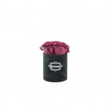 XS BLUMMIN - BLACK VELVET BOX WITH CHERRY LADY ROSES