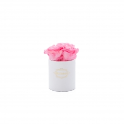 XS BLUMMiN - WHITE BOX WITH BABY PINK ROSES