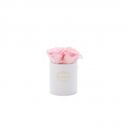 XS BLUMMIN - WHITE BOX WITH BRIDAL PINK ROSES