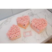 Südamekujuline lillekarp L heleroosa karp BRIDAL PINK roosidega (18-20 roosi)