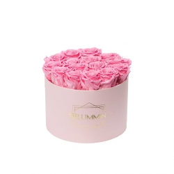 LARGE BLUMMIN - LIGHT PINK BOX WITH BABY PINK ROSES