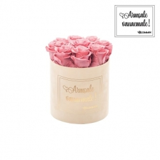 """MEDIUM """"ARMSALE VANAEMALE"""" - nude sametkarp VINTAGE PINK roosidega"""