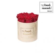 """MEDIUM """"ARMSALE VANAEMALE"""" - nude sametkarp ROSEBERRY roosidega"""