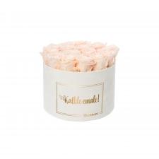 KALLILE EMALE - LARGE (17 ROOSIGA) VALGE SAMETKARP ICE PINK ROOSIDEGA