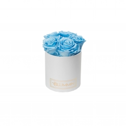 MIDI WHITE BOX WITH BABY BLUE ROSES