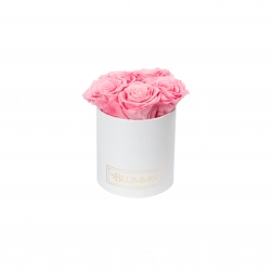 MIDI BLUMMiN WHITE BOX WITH BABY PINK ROSES